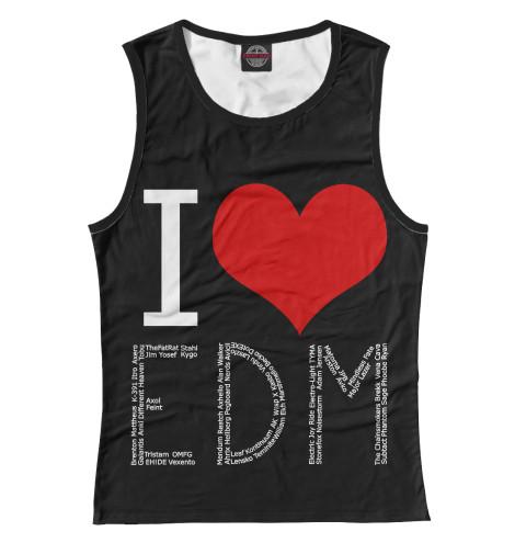 Майка Print Bar I love EDM