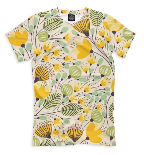 Купить Мужская футболка Цветы CVE-332622-fut-2