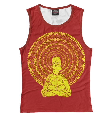 Майка Print Bar Гомер Буддизм