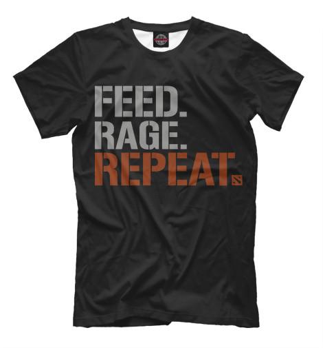 Футболка Print Bar Feed Rage Repeat футболка repeat футболка