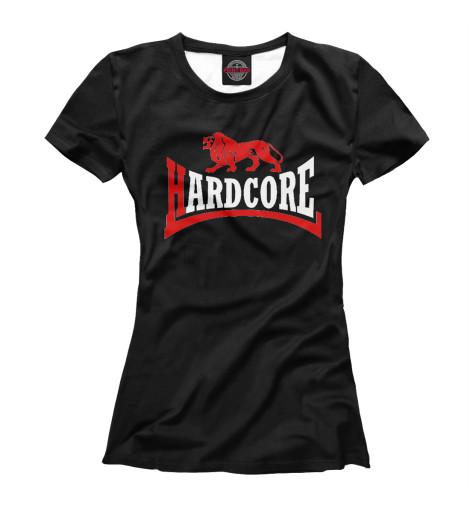 Купить Женская футболка Hard Core Lion Black MZK-199310-fut-1