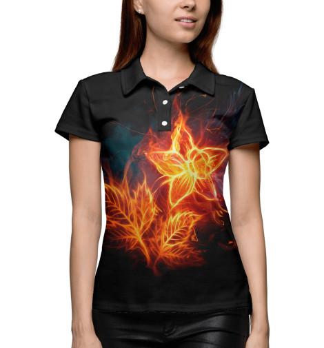 Поло Print Bar Огненный цветок футболка print bar real огненный лого