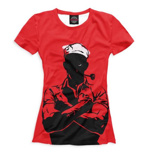 Женская футболка Моряк Попай