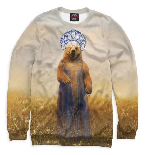 Купить Свитшот для девочек Медведица в сарафане VSY-763015-swi-1