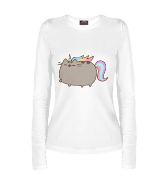 Женский Лонгслив Pusheen Happy Unicorn