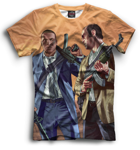 Мужская футболка Тревор и Франклин