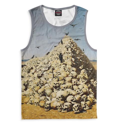 Мужская майка Апофеоз войныВсе майки изготавливаются в Москве на нашем производстве и состоят из высококачественного материала кулирная гладь &amp;ndash; эта одна из самых долговечных и стойких к износу тканей. Благодаря этому, качество изображения на футболке получается наиболее ярким и насыщенным и выдерживает любое количество стирок.<br><br>Размер INT: 2XS,XS,S,M,L,XL,XXL,XXXL,4XL,5XL,104,110,116,122,128,134,140,146,152,158<br>Цвет: Белый<br>Пол: Мужской<br>Материал: Хлопок