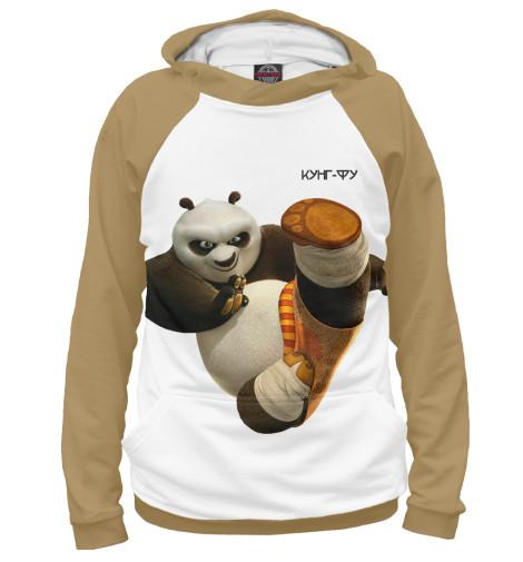 Фото - Мужское худи Кунг-фу панда от Print Bar белого цвета