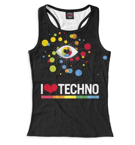 Женская майка-борцовка I Love Techno