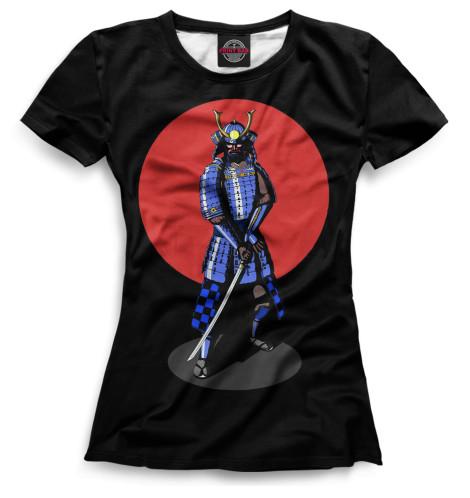 Женская футболка Самурай, арт
