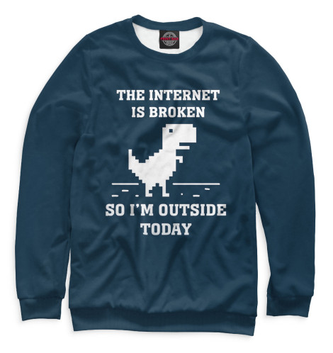 Свитшот Print Bar The Internet is Broken broken windows broken business how the smallest remedies reap the biggest rewards