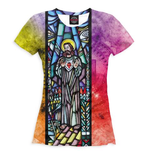 Женская футболка Иисус