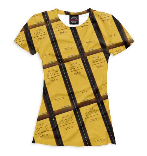 Женская футболка Золотые слитки