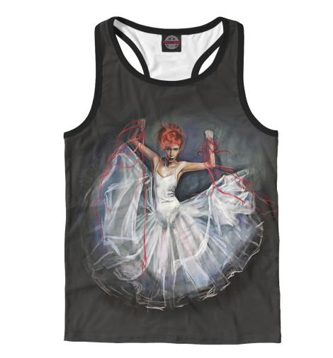 Фото - Мужская майка-борцовка Балерина от Print Bar белого цвета
