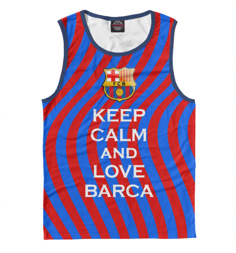 Майка Print Bar Keep Calm and Love Barca футболка wearcraft premium printio keep calm and play pokemon