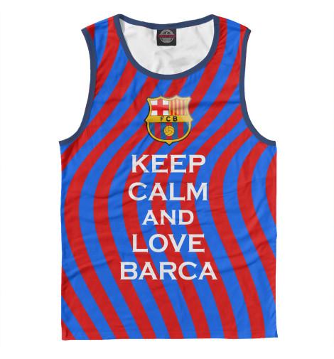Купить Мужская майка Keep Calm and Love Barca BAR-623531-may-2