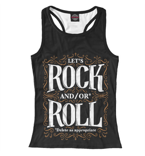 Майка борцовка Print Bar Lets Rock майка борцовка print bar rock rules