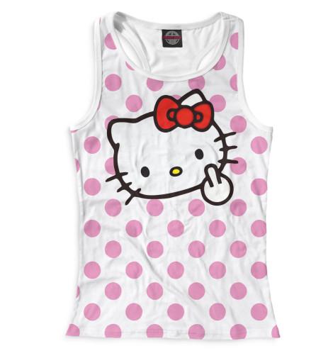 Женская майка-борцовка Hello Kitty