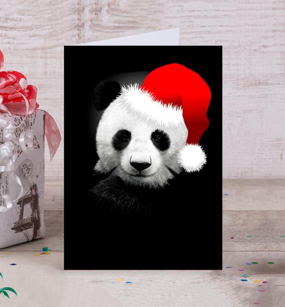 Новогодние открытки панды, танцующей