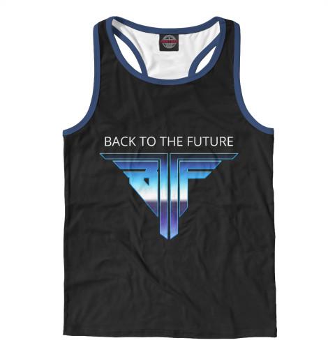 Майка борцовка Print Bar Back to the Future logo retro back to the future the ultimate visual history