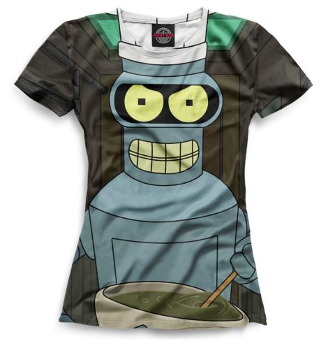 Женская футболка Бендер