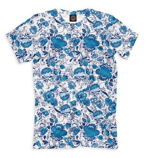 Мужская футболка Гжель