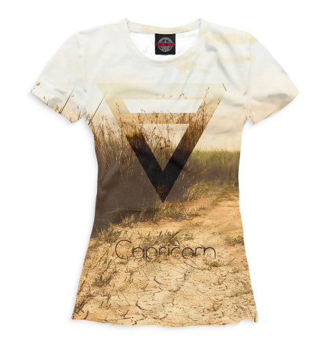 Женская футболка Козерог