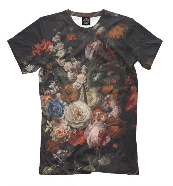 Купить Мужская футболка Цветы CVE-146954-fut-2