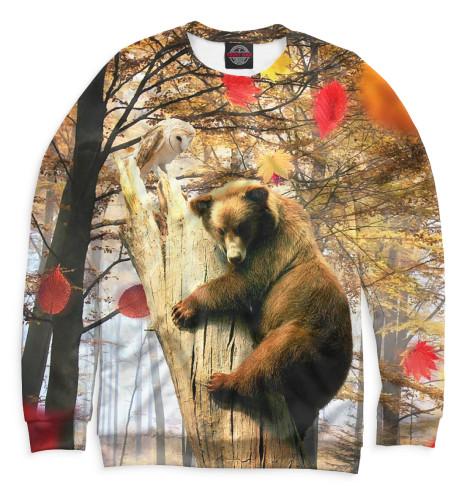 Женский свитшот Медведь на дереве