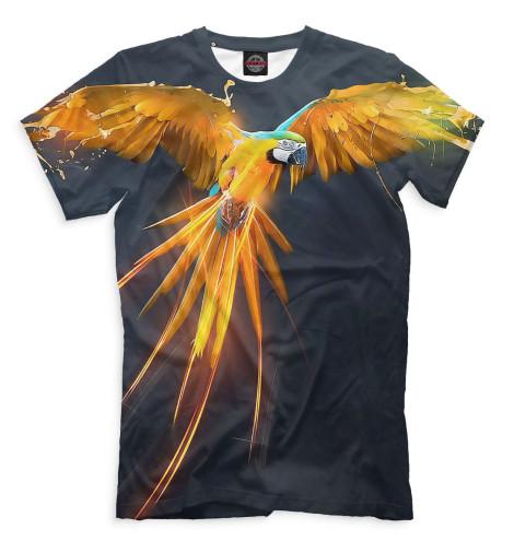 Мужская футболка Попугай