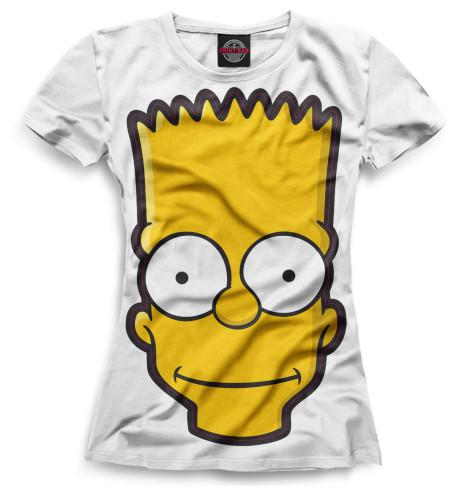 Женская футболка Барт