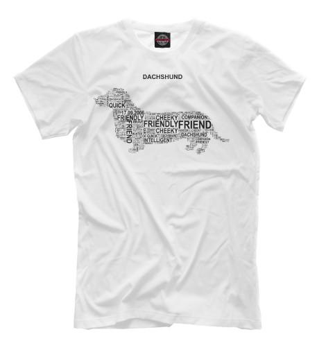 Купить Мужская футболка Dachshund Такса DOG-201417-fut-2