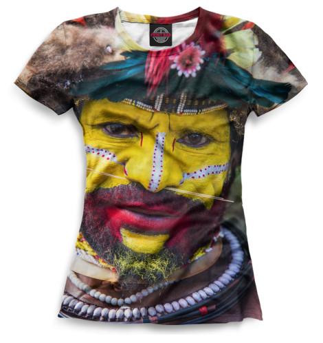 Женская футболка Новогвинеец