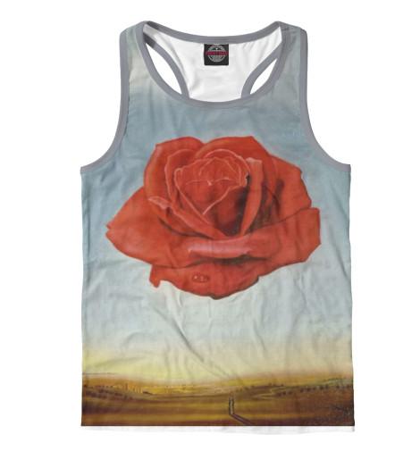 Майка борцовка Print Bar Медитативная роза пламенная роза тюдоров