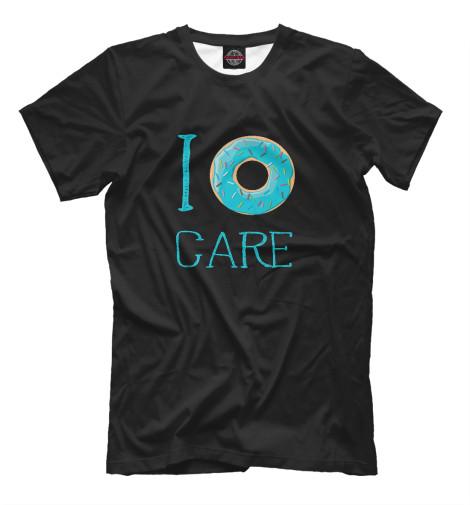 Фото - Мужская футболка Donut care от Print Bar белого цвета