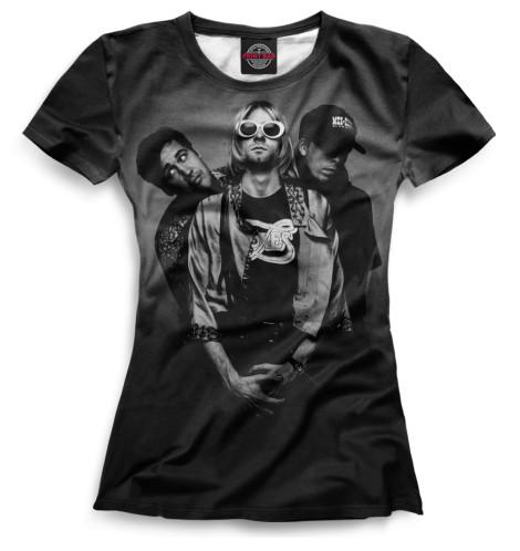 Женская футболка Nirvana