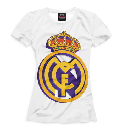 Женская футболка Реал Мадрид герб