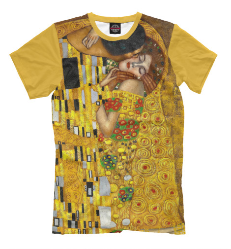 Футболка Print Bar Густав Климт. Поцелуй женская сумка шопер с принтом коричневая коллекция elole design поцелуй густав климт нат кожа