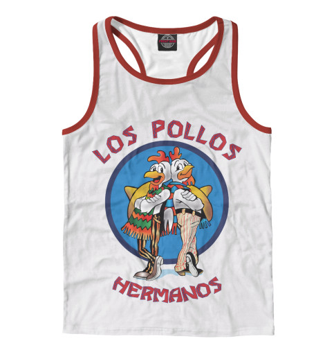 Майка борцовка Print Bar Los Pollos Hermanos чехол для iphone 6 глянцевый printio los pollos hermanos breaking bad