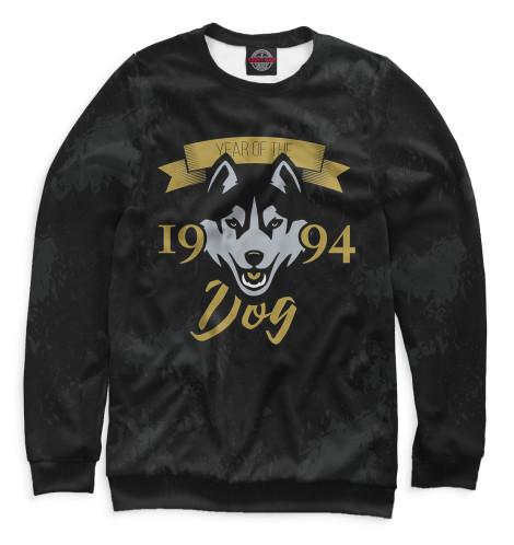 Свитшот Print Bar Год собаки — 1994 монета номиналом 1 крона человек в полете отто лилиенталь остров мэн 1994 год