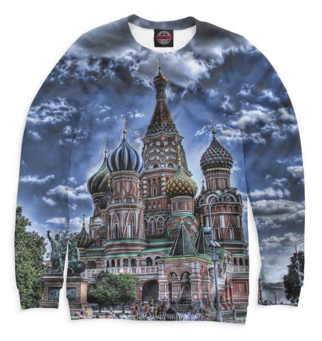 Женский свитшот Собор Василия Блаженного Print Bar MOS-383199-swi