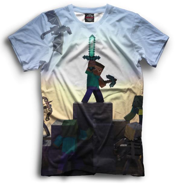Купить Мужская футболка Minecraft MCR-192165-fut-2