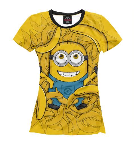 Купить Женская футболка Банановый миньон MIN-635508-fut-1