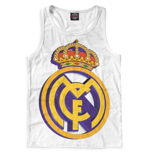 Мужская майка-борцовка Реал Мадрид герб
