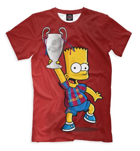 Мужская футболка Барт с кубком