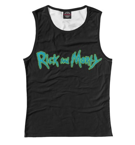 Майка Print Bar Rick and Morty сумка printio рик и морти  rick and morty