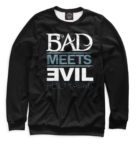 Свитшот Print Bar Bad Meets Evil майка классическая printio во все тяжкие braiking bad ч б