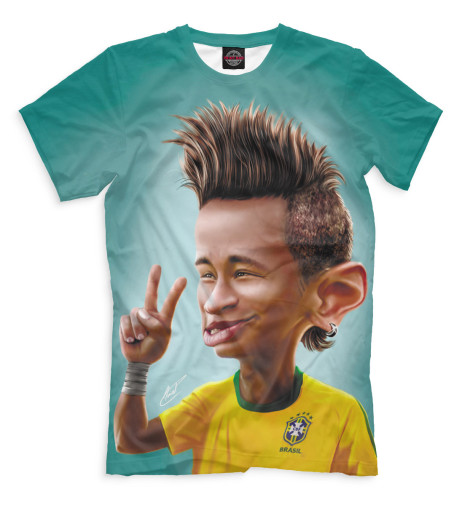Мужская футболка Неймар