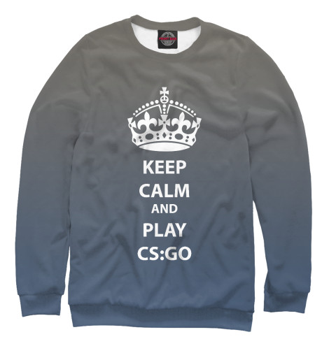Свитшот Print Bar KEEP CALM AND PLAY CS GO свитшот print bar cs go кислотный зверь awp