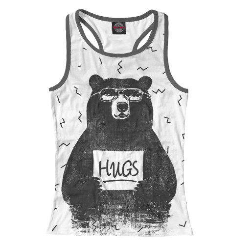 Майка борцовка Print Bar Bear Hugs майка print bar the bear